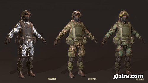 Russian Soldier Camo Pack v1.0