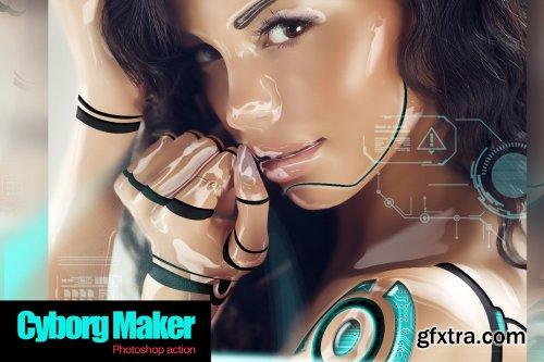CreativeMarket - Cyborg Maker Photoshop Action 4267630