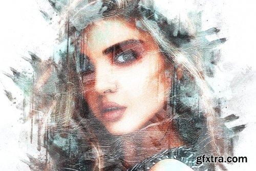 CreativeMarket - Paint Watercolor Photoshop Action 4280452