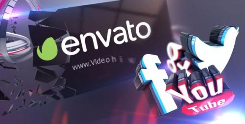 Videohive - 3D Social Media Action