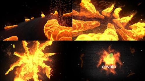 Videohive - Fire Logo Opener