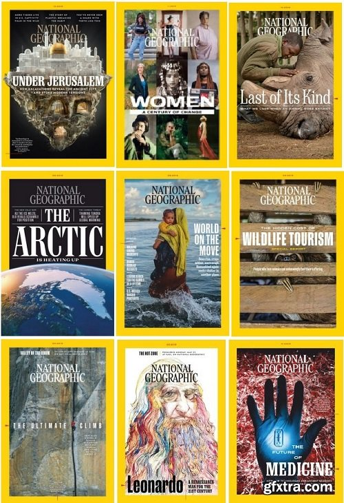 National Geographic USA - 2019 Full Year Issues Collection
