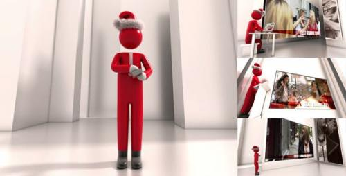 Videohive - Christmas Greetings With Businessman