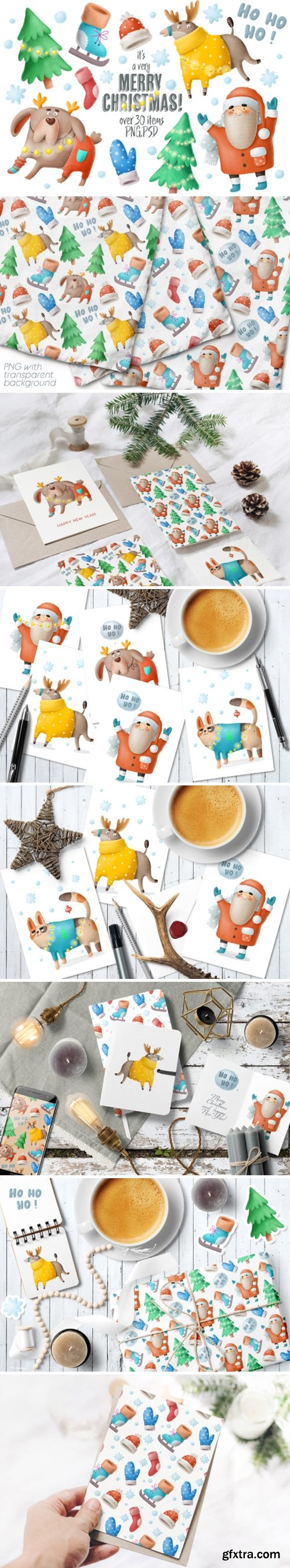 Christmas Clipart and Characters Set 2178307