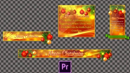 Videohive - Christmas Lower Thirds - Premiere Pro