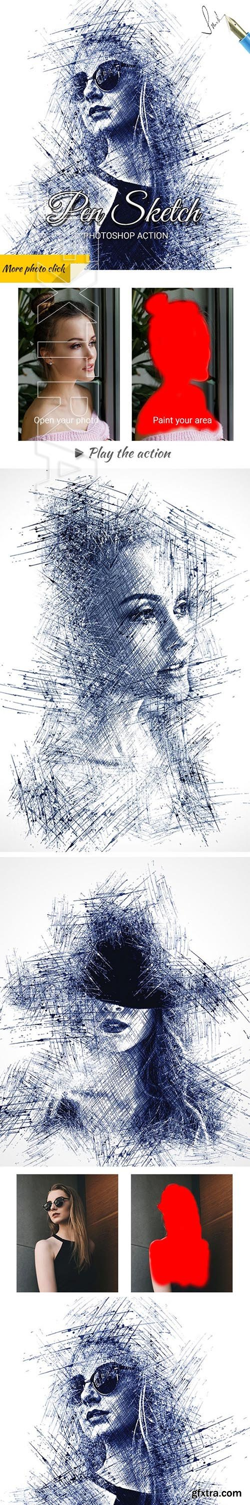 GraphicRiver - Pen Sketch Photoshop Action 25003520