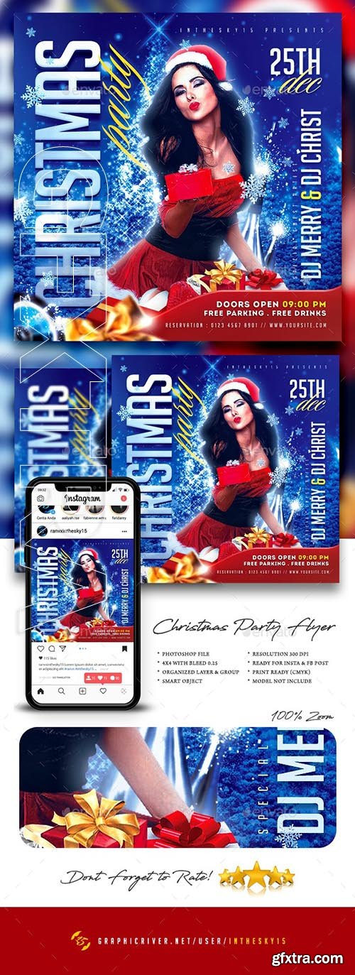 GraphicRiver - Christmas Party Flyer 25075501
