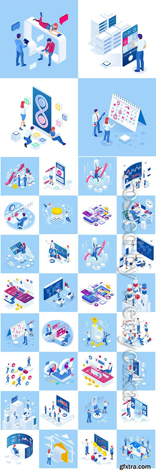 Flat isometric vector 3D concept illustration # 89