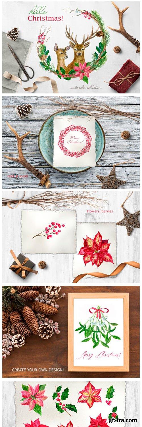 Hello Christmas! Watercolor Set 2179144