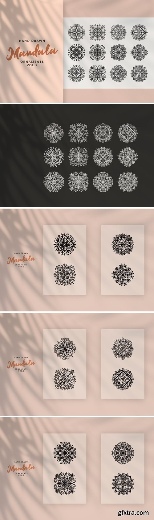 Hand Drawn Mandala Ornaments Vol.2