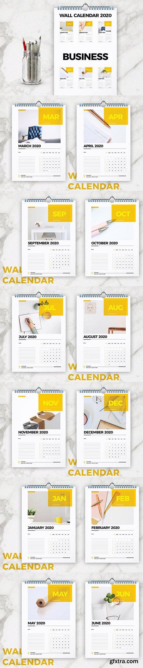 Wall Calendar 2020 Layout 5