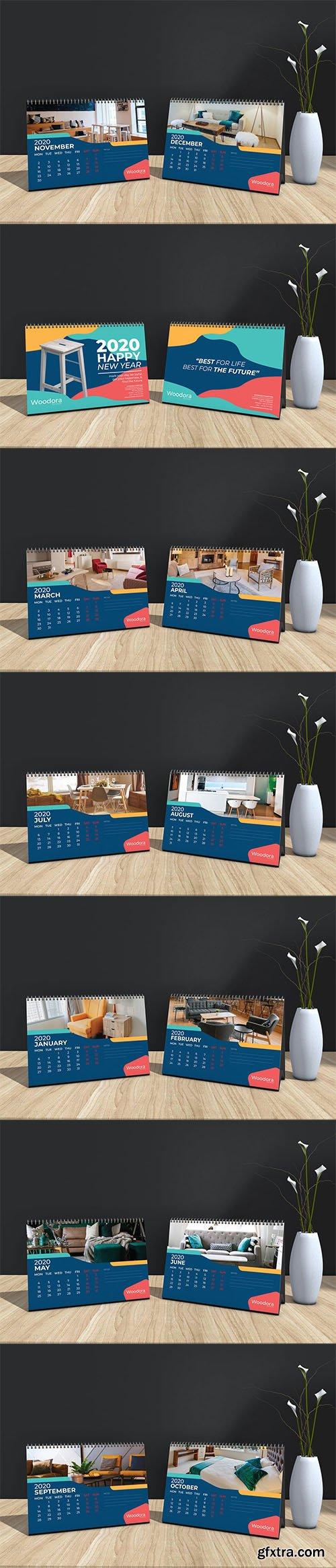 Woodora Furniture Table Calendar 2020