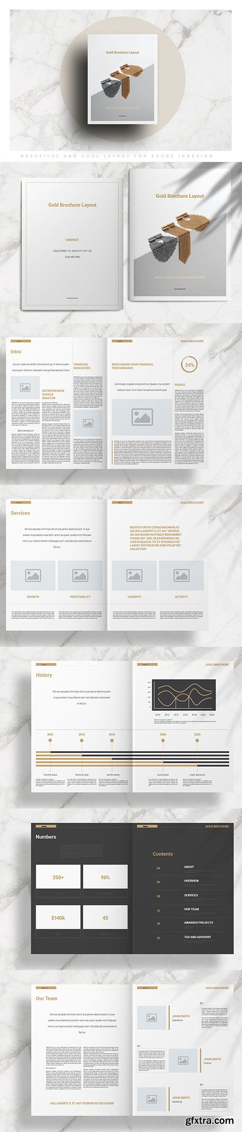 Gold Brochure Layout