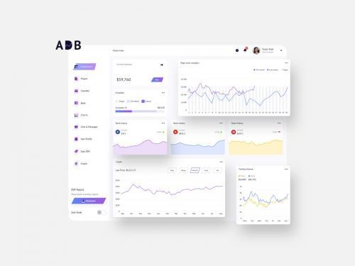 ADB Finance Dashboard Ui Light - FP - adb-finance-dashboard-ui-light-p