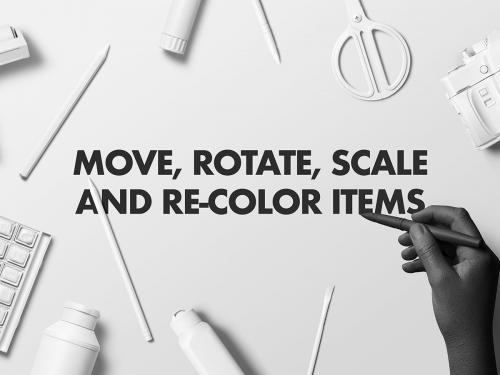 Adjustable colored mockup items - adjustable-colored-mockup-items