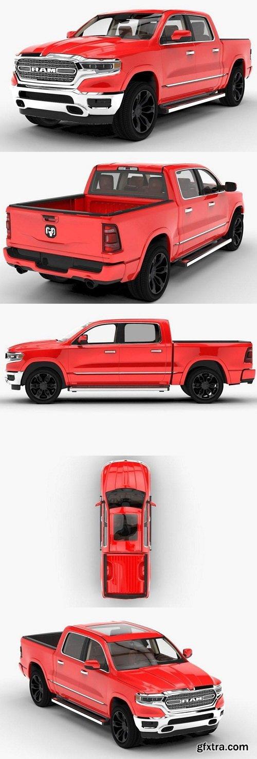Dodge Ram 2019 Limited 3D model