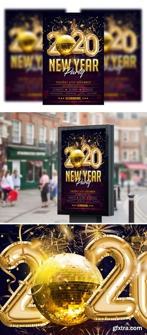Happy New Year Flyer/poster Template 2196298