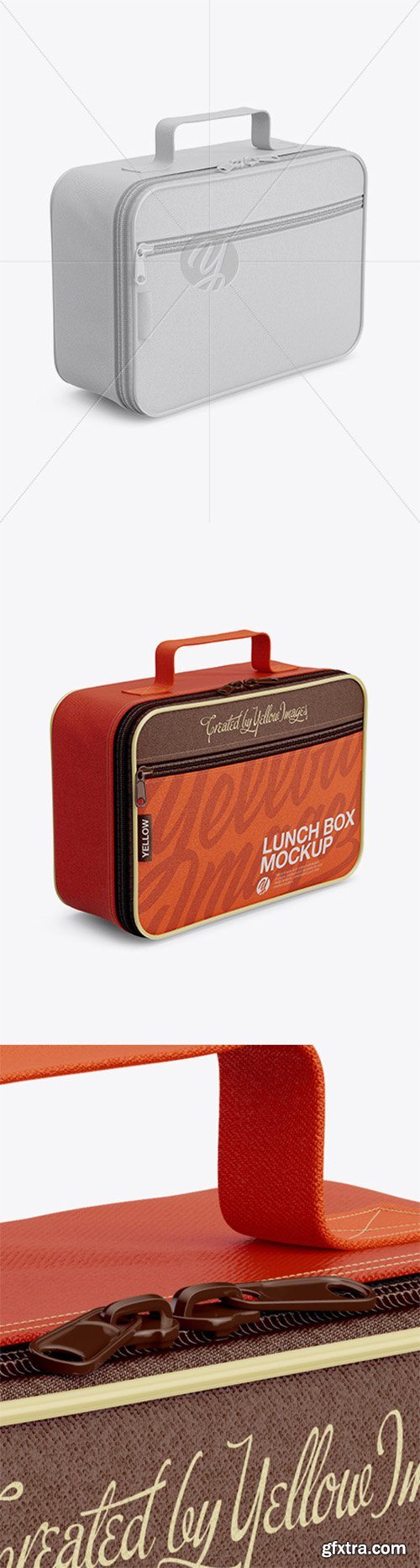 Lunch Box Mockup - Half Side View 23023
