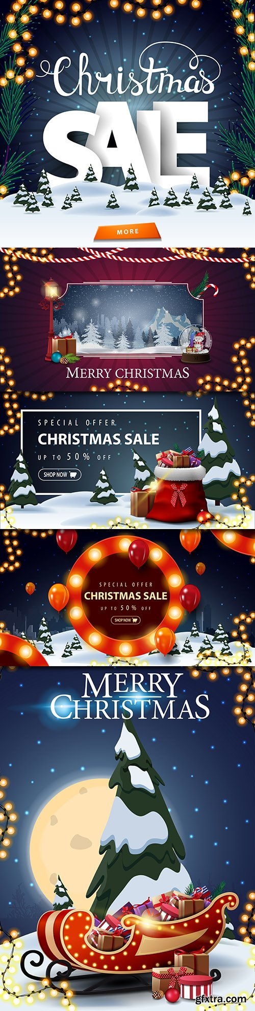 Merry Christmas and New Year background decorative 26