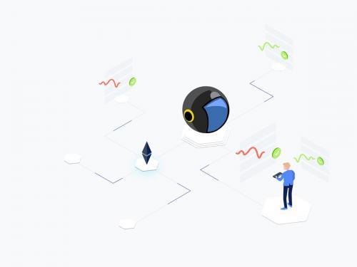 AI Signals Trading Isometric Illustration - ai-signals-trading-isometric-illustration