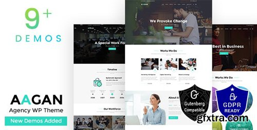 ThemeForest - Aagan v1.9 - Startup Business Agency WordPress Theme - 22036400