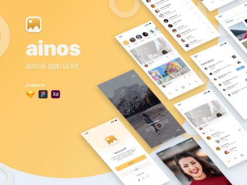 Ainos Social App UI/UX Kit - ainos-social-app-ui-ux-kit