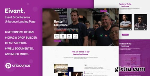 ThemeForest - Eivent v1.0 - Conference & Event Unbounce Landing Page Template - 25162931