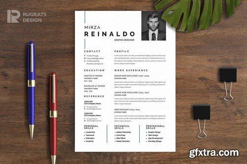 Minimalist CV Resume R20 Template