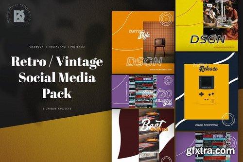 Retro Vintage Social Media Pack