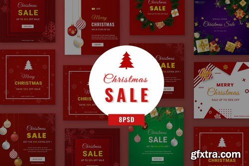 Christmas Sale Social Media Banner B18