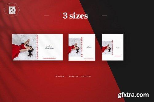 Red & White Social Media Pack