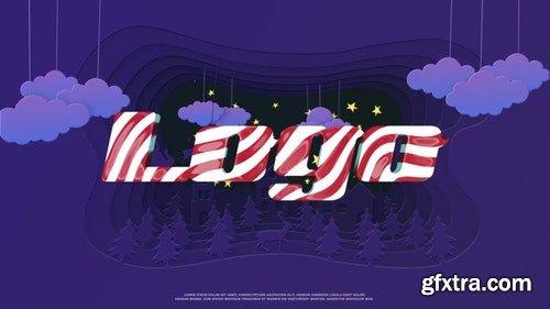 MotionArray Christmas Paper Cut Logo 336177
