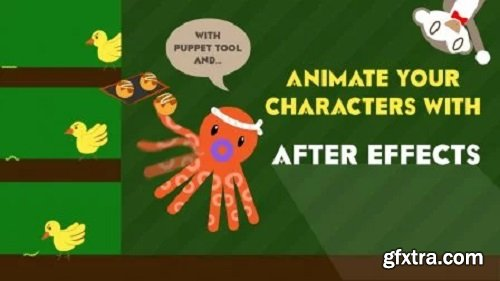 Animate your characters in After effects! (Basic transformations + Puppet tool + Walking cycle!)