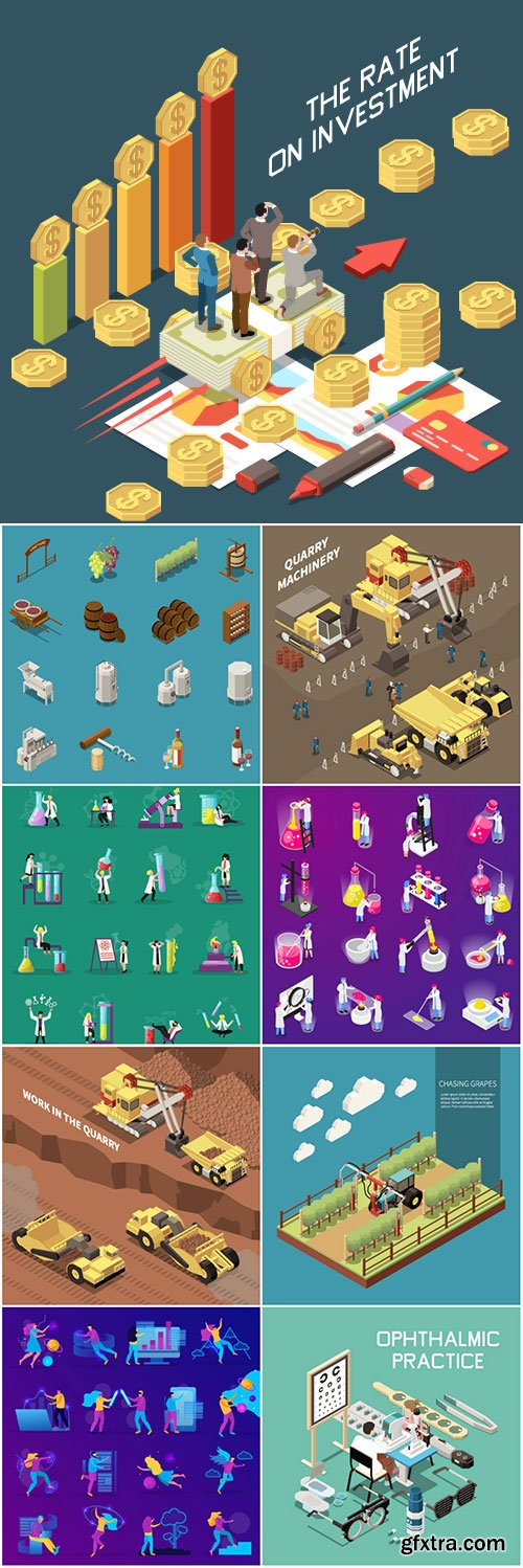 Flat isometric vector 3D concept illustration # 94