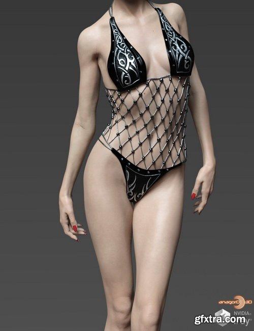 Daz3D - Mrs Black HD for Victoria 8
