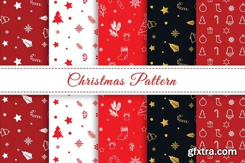 Christmas Pattern Pattern Red White Colors