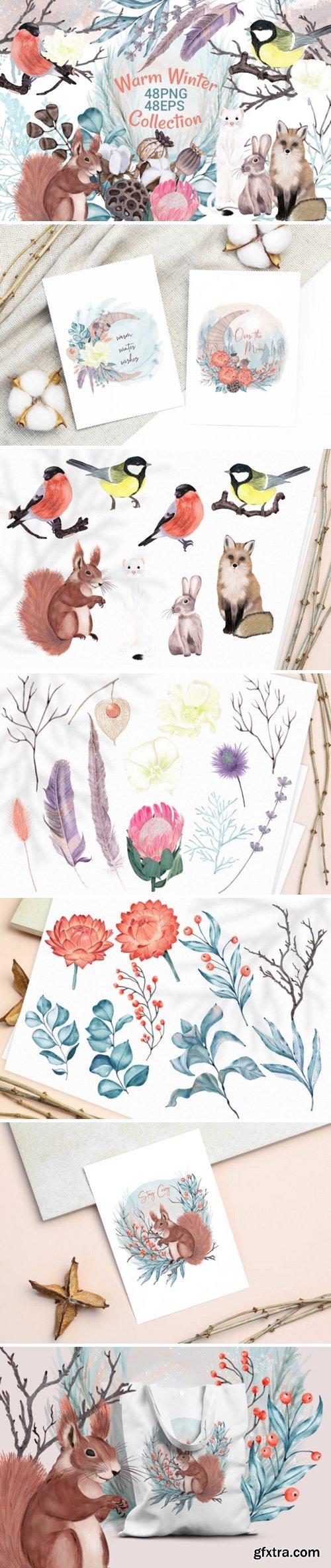 Winter Flowers, Animals, Birds Forest 2205605