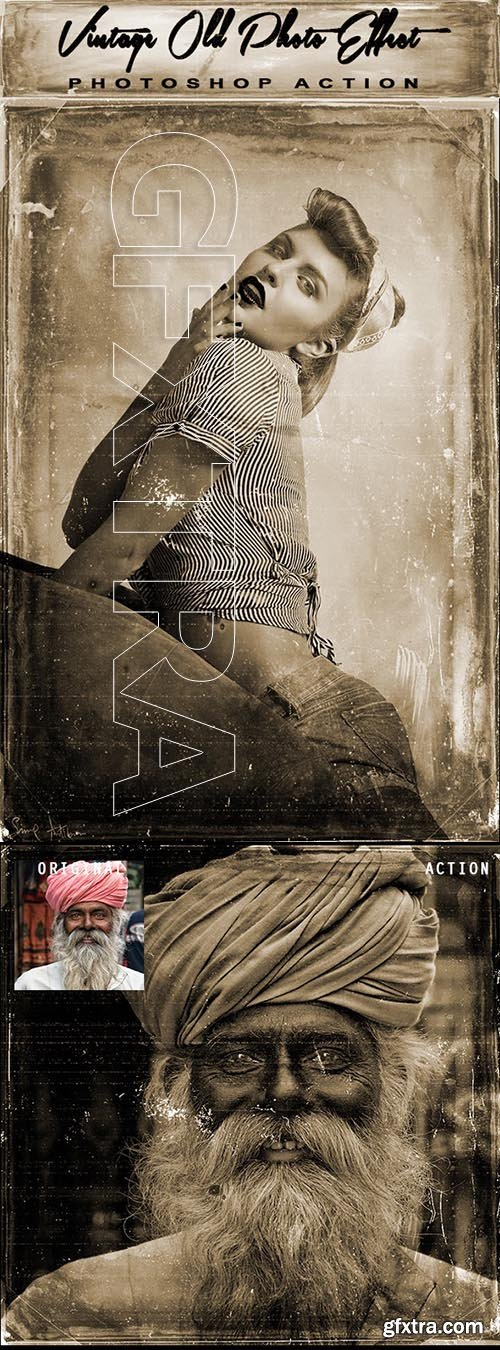 GraphicRiver - Vintage Old Photo Effect Photoshop Action 24987335