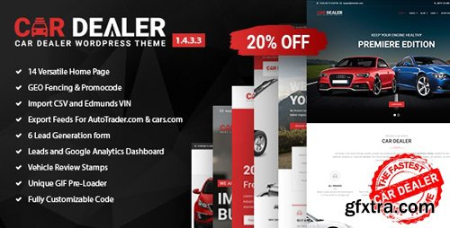 ThemeForest - Car Dealer v1.4.3.3 - Automotive Responsive WordPress Theme - 20213334 - NULLED