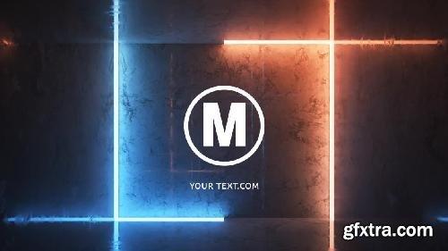MotionArray Neon Lines Logo 333097