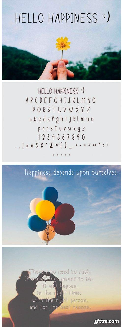 Hello Happiness Font