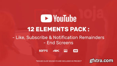 Videohive Youtuber Subscribe Reminder & End Screens 23347592