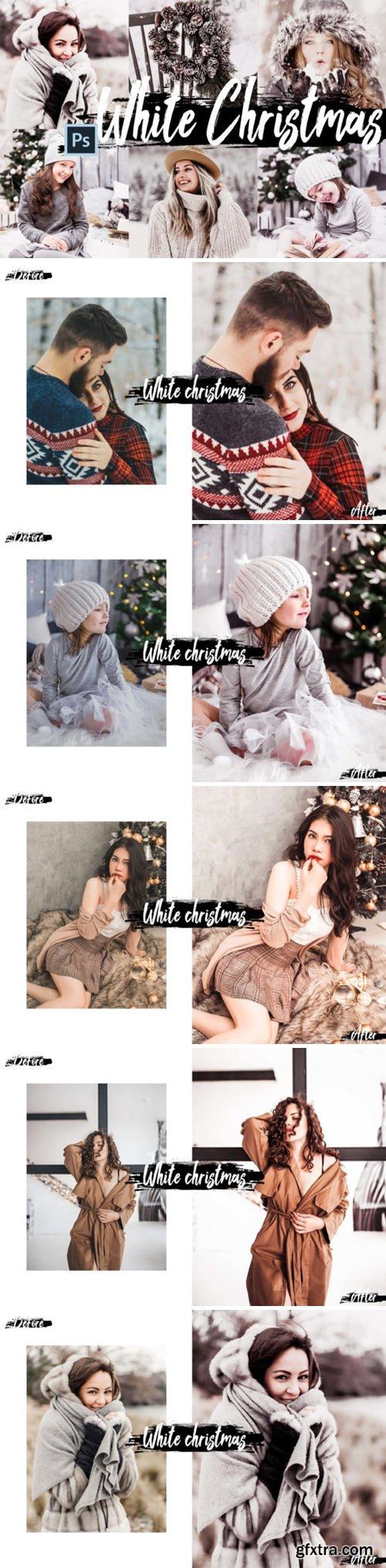 05 White Christmas Photoshop Actions ACR 2210442
