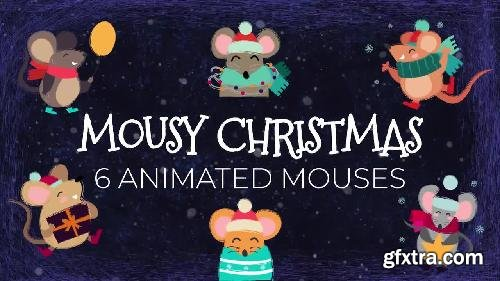 MotionArray Mousy Christmas: 6 Animated Mice 335474