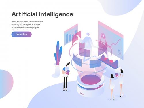 Artificial Intelligence Isometric Illustration Concept - artificial-intelligence-isometric-illustration-concept