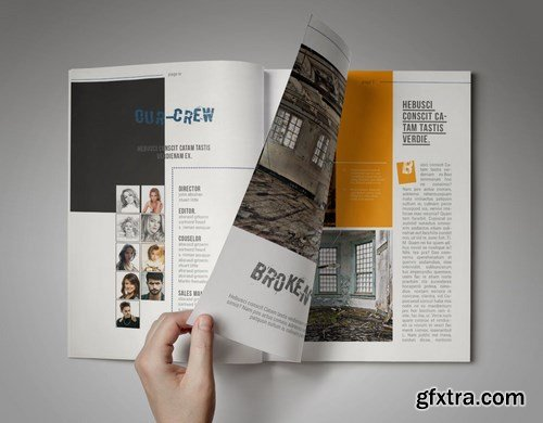 Bro-Ken InDesign Magazine Template