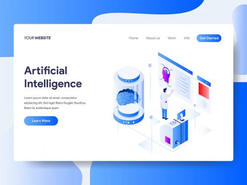 Artificial Intelligence Isometric Illustration - artificial-intelligence-isometric-illustration