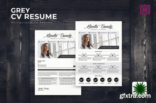Grey CV Resume Template