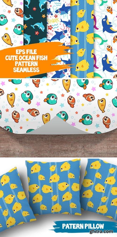 Cute Ocean Fish Seamless Pattern 2226584