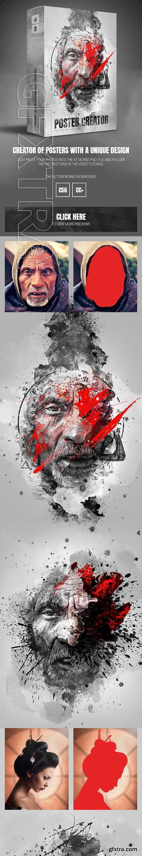 GraphicRiver - Poster Creator Photoshop Action 25155437